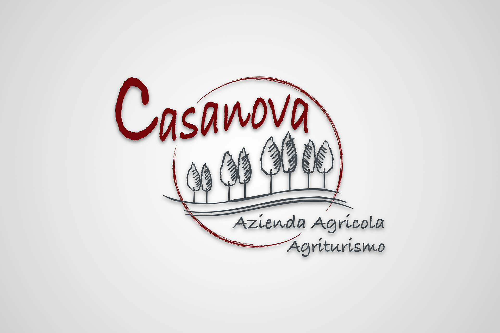 onafez design casanova agriturismo logo azienda agricola