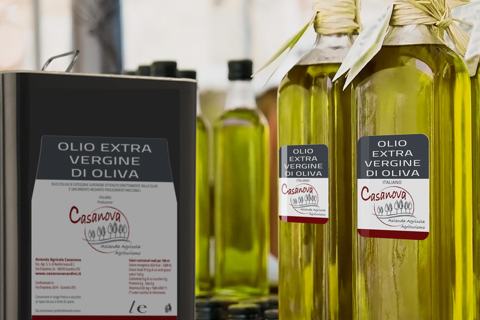 onafez design casanova agriturismo etichetta olio extra vergine