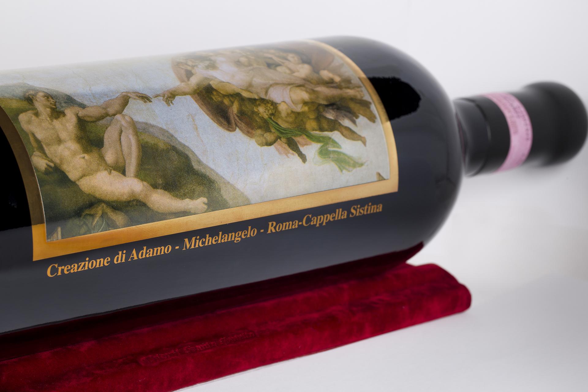onafez design santo spirito collezione arte wine creazione magnum