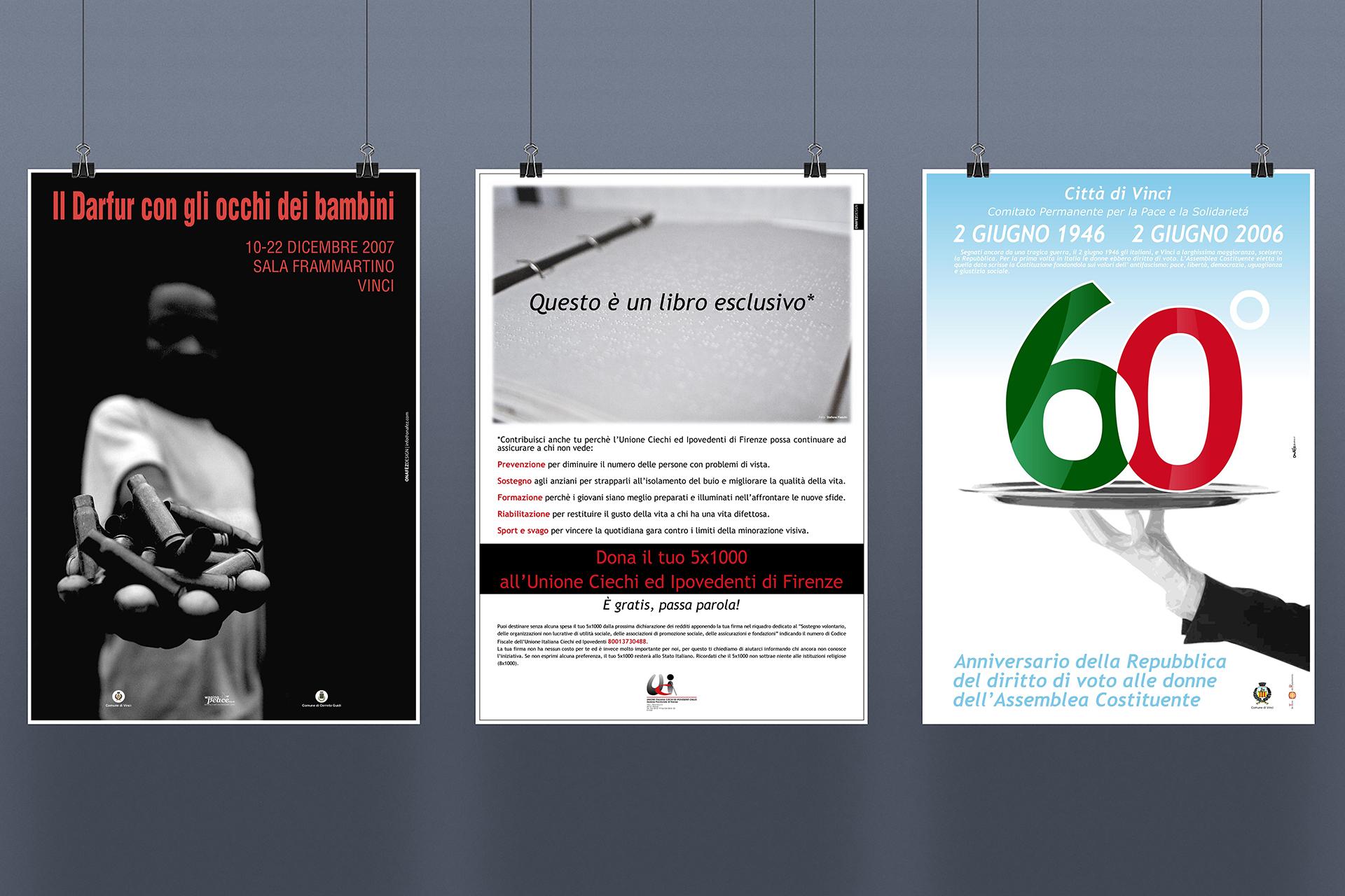 onafez design confesercenti poster adv darfur repubblica italiana ciechi braille