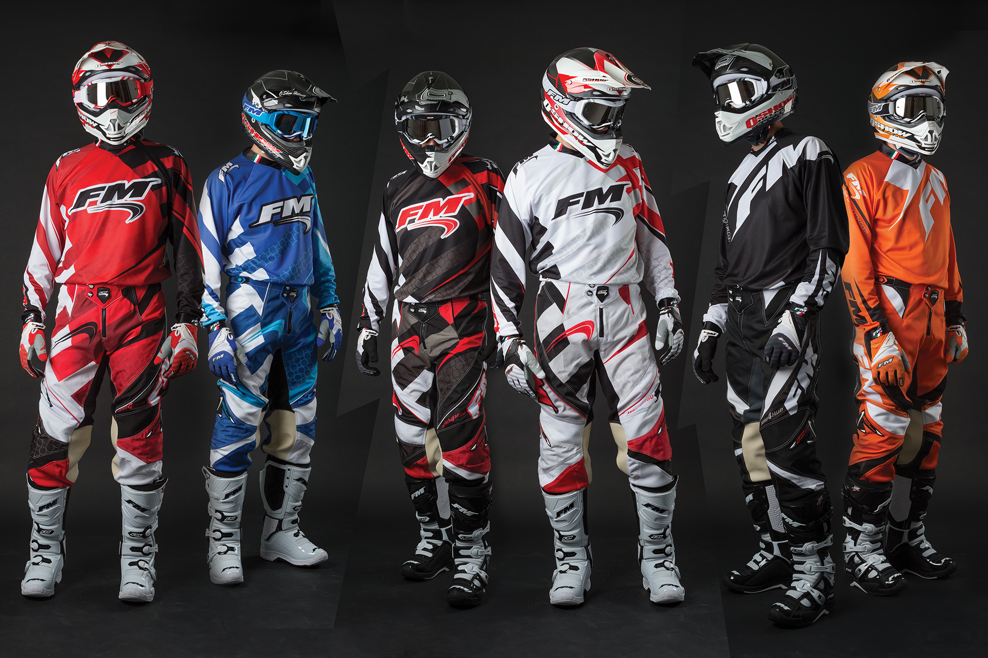 onafez design fm racing mx gear off-road helmets