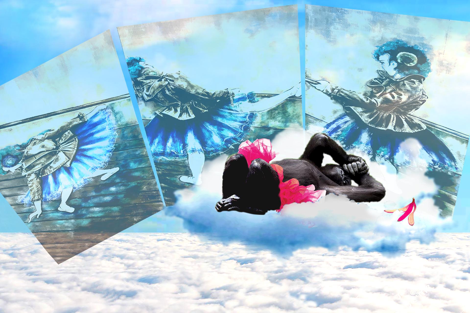 onafez design hostage vinci illustrazione website confezione donna