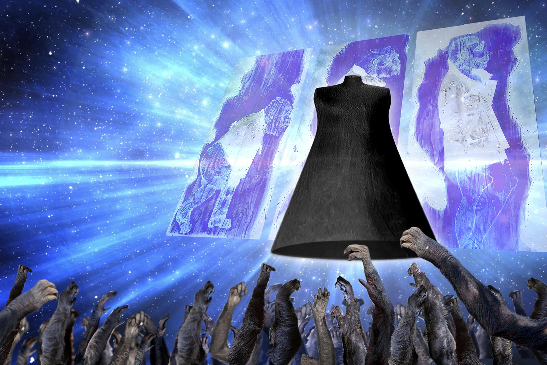 onafez design hostage vinci illustrazione website confezione uomo