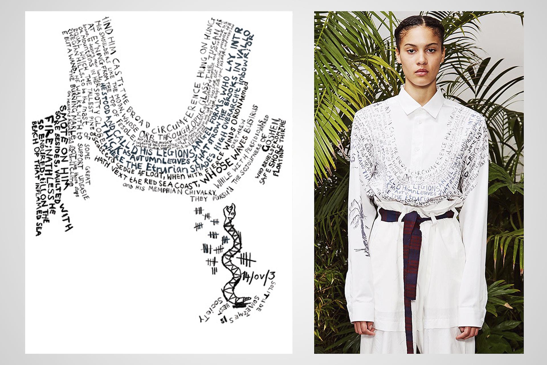 onafez design hostage vinci oamc pandemonium camicia donna scritte serpente snake