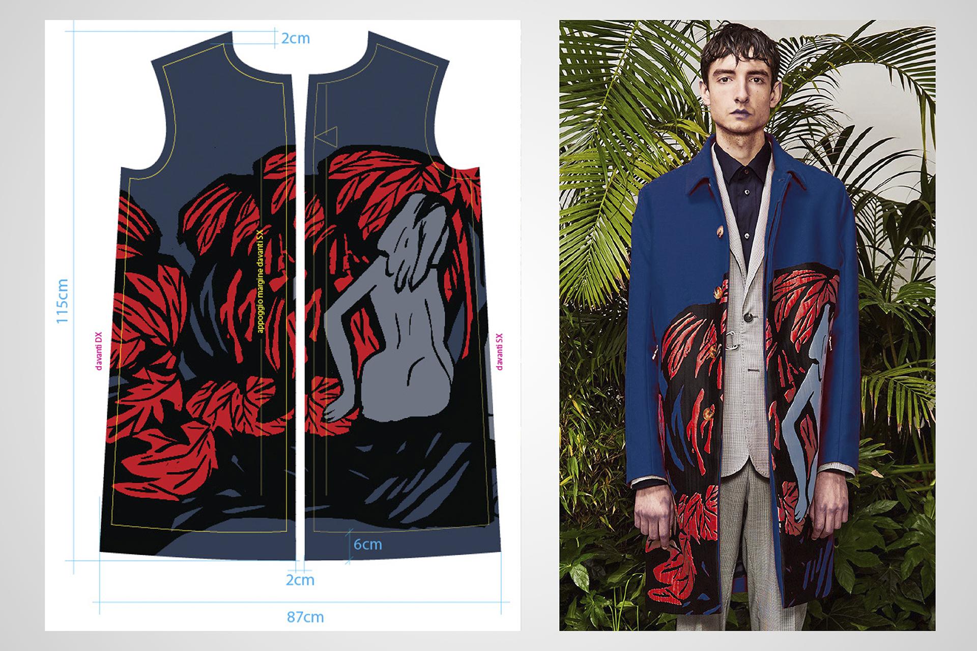 onafez design hostage vinci oamc pandemonium giacca palme rosse