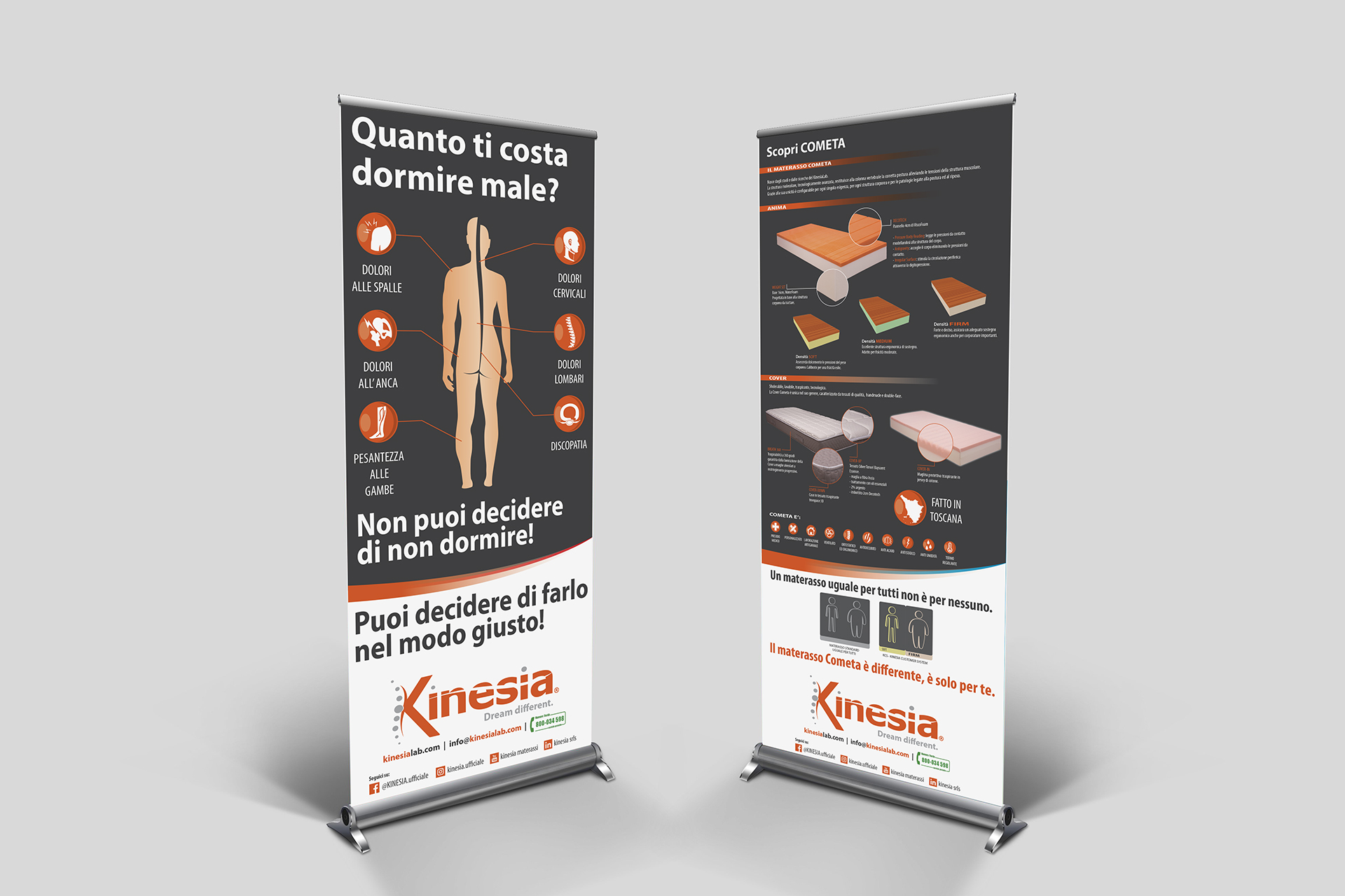 onafez design roll-up espositore